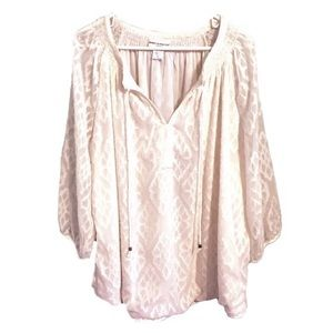 Rebecca Malone Peasant Top Boho Bohemian 2X Plus
